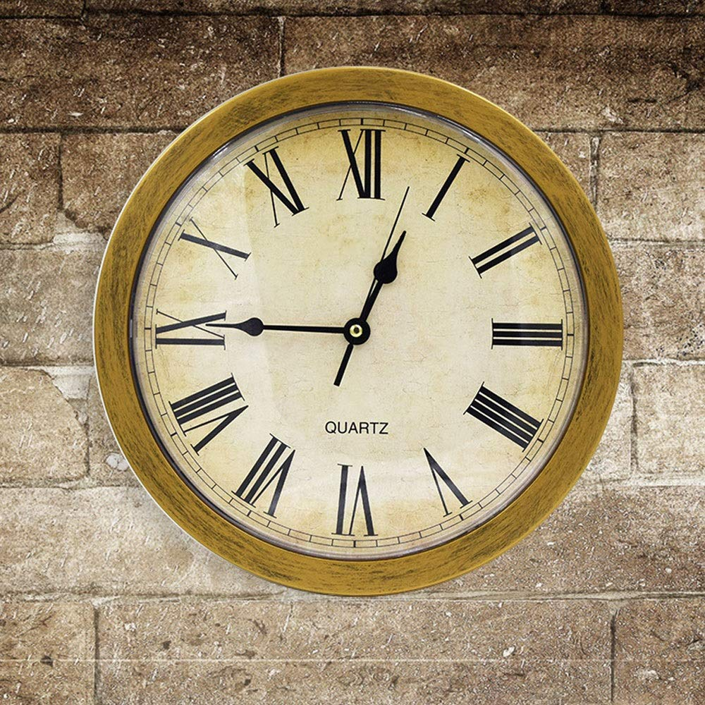 GaoMiTA Vintage Style Plastic Hidden Secret Wall Clock,Secret Compartment Hidden Safe for Jewelry Money Storage Box