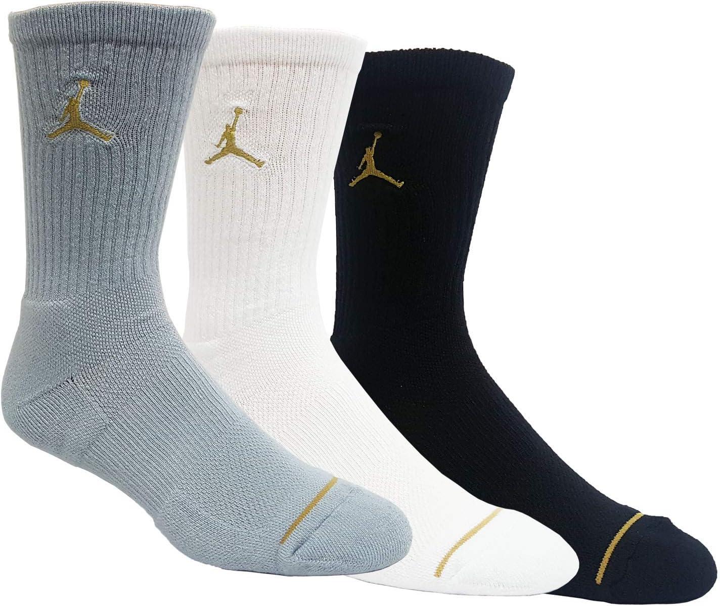 Nike Jordan Jumpman Crew Basketball Socks (3 Pair) SX5545