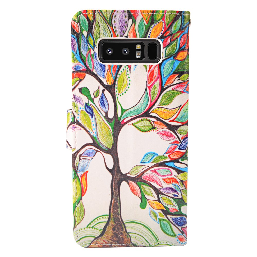 Galaxy Note 8 Case, MagicSky Galaxy Note8 Wallet Case, Premium PU Leather Wristlet Flip Case Cover with Card Slots & Stand for Samsung Galaxy Note8 - Love Tree