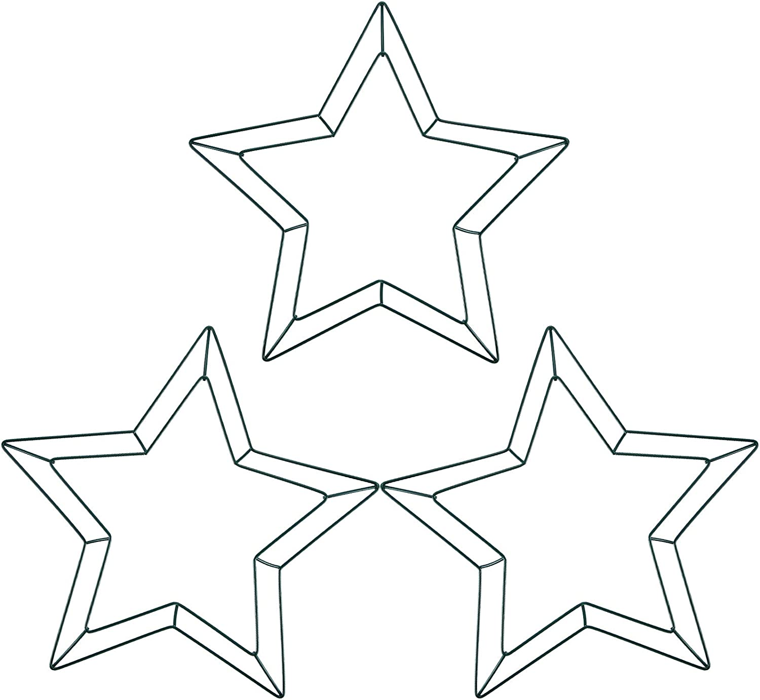 12 Inch Star Wire Wreath Frame Metal Star Wreath Frames for Independence Day Valentines St. Patrick's Day Holiday Decorations Floral Arrangements Craft DIY