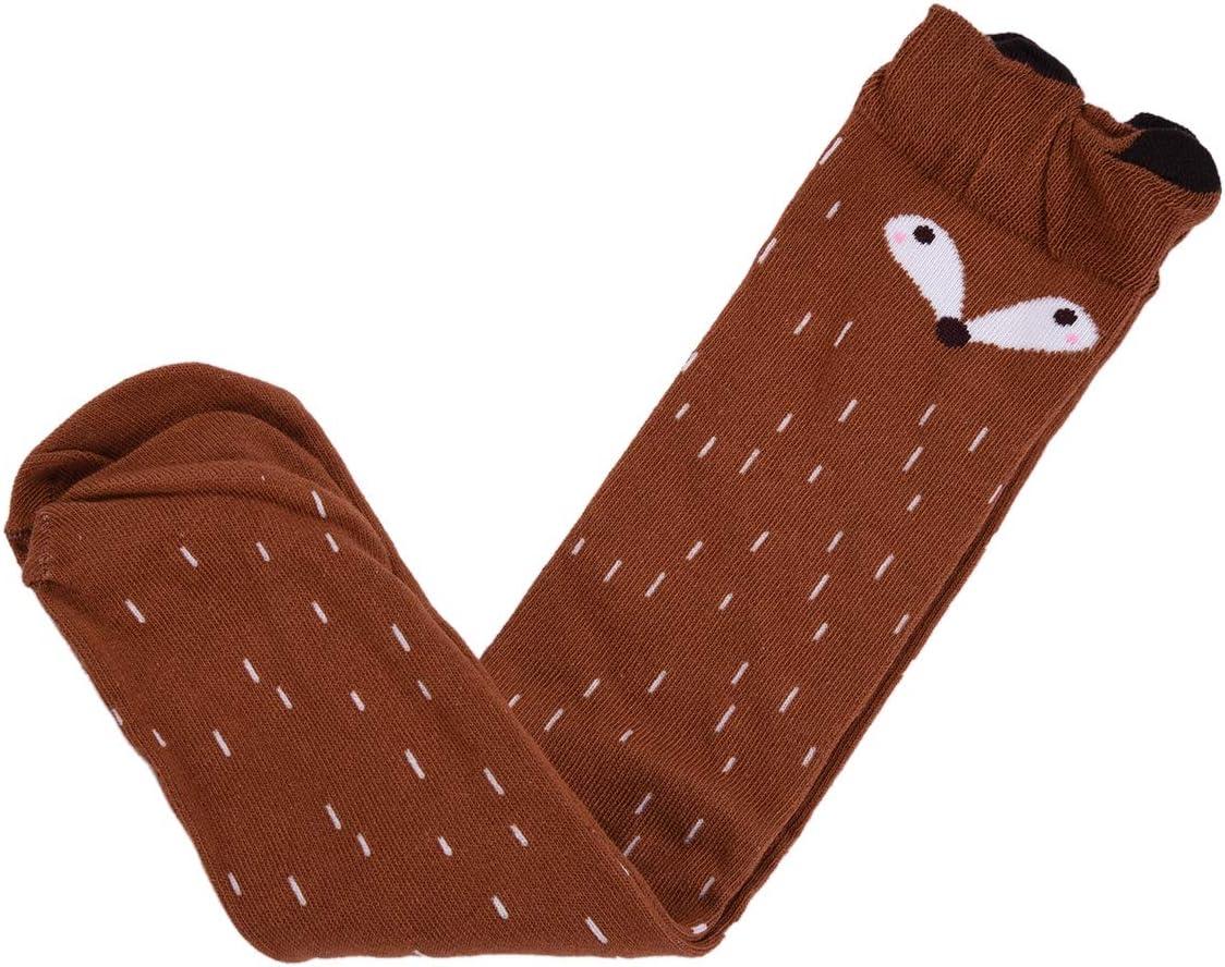 lavorate alluncinetto calde 1 3-12ans per bambine o ragazze in cotone motivo con animali TININNA calze alte fino al ginocchio
