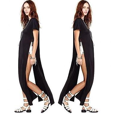 Amazon.com: Moxeay Bandage Womens Open Side Split Long Maxi Dress ...