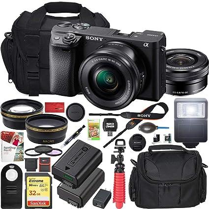 Amazon.com: Sony a6400 - Cámara de fotos sin espejo 4K ILCE ...