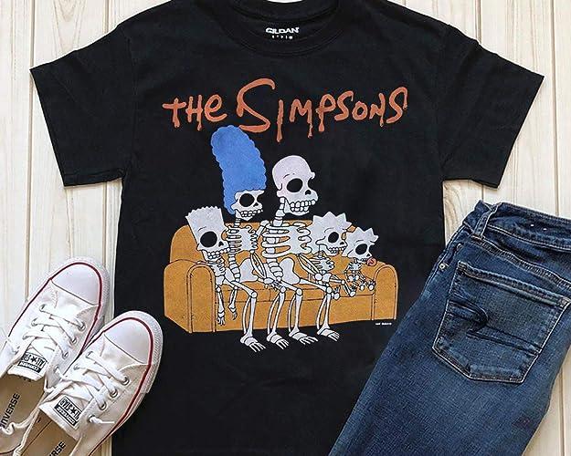 Simpsons Halloween Shirt.Simpsons Family Skeletons T Shirt Purple Mens Halloween Retro Tv Hoodie Sweatshirt