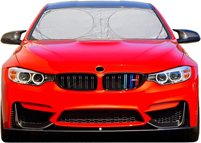 Q89 Be Kind Car Sun Shade Windshield Cover Suitable for All Cars and Seasons 57.87 X 46.45 Inch