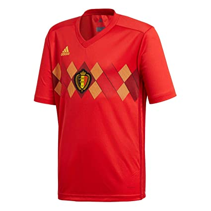 12cef5fb9 adidas Belgium FC 2017 18 Home Short Sleeve Jersey - Youth - Red Gold