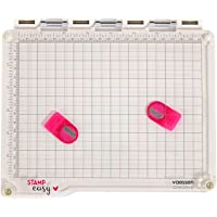 Vaessen Creative 2137-033 Easy Stamp Platform Tool for Accurate Craft Stamping, White/Transparent, 23.5 x 20.5 x 1.8 cm