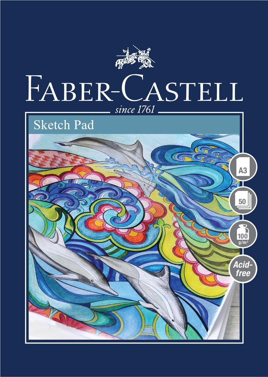 Faber-Castell Art & Graphic Sketch Pad, A3 160 gsm Pad of 40 Sheets West Design WD792614