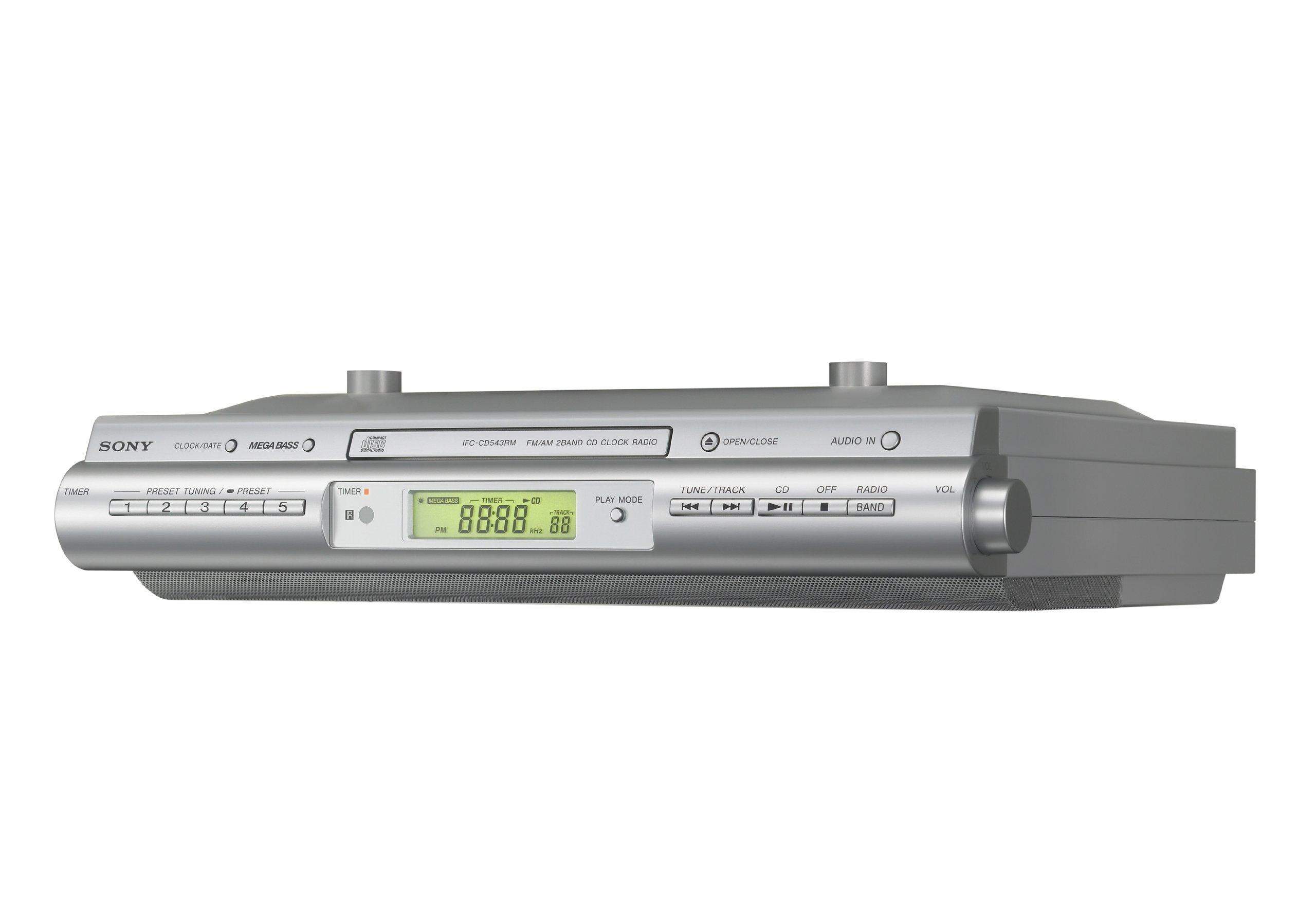 Sony ICFCDK50 Under Cabinet Kitchen CD Clock Radio by Sony