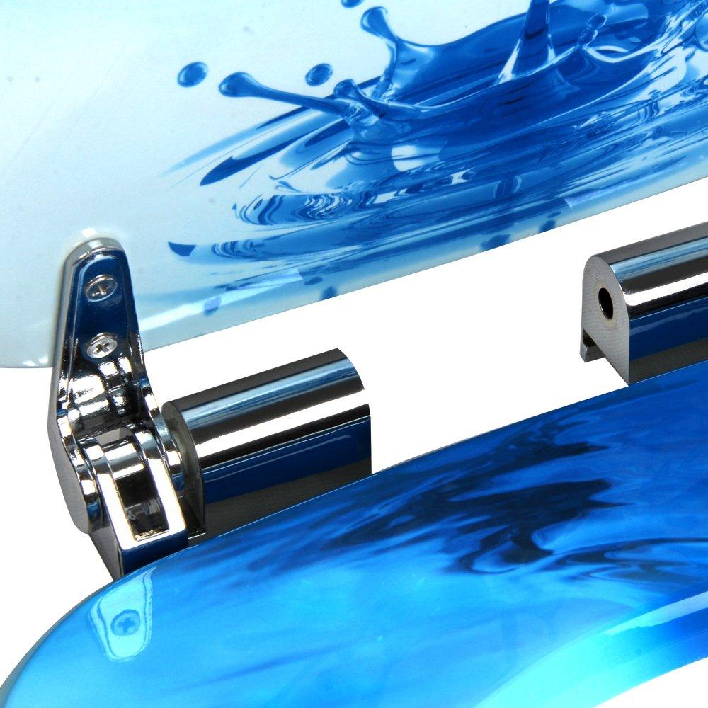 Deuba WC Toilettendeckel Absenkautomatik inkl Montagematerial Klodeckel mit Edelstahlscharnieren Toilettensitz MDF
