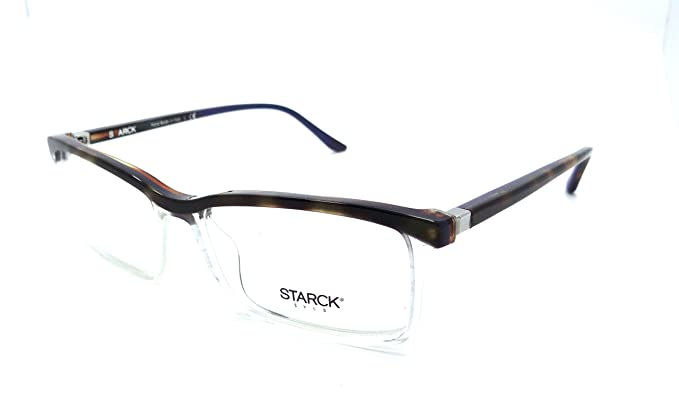 5e35ec9aa127 Image Unavailable. Image not available for. Color  Starck Eyes Mikli Rx  Eyeglasses Frames SH3037 0008 56x16 Havana   Blue   Crystal