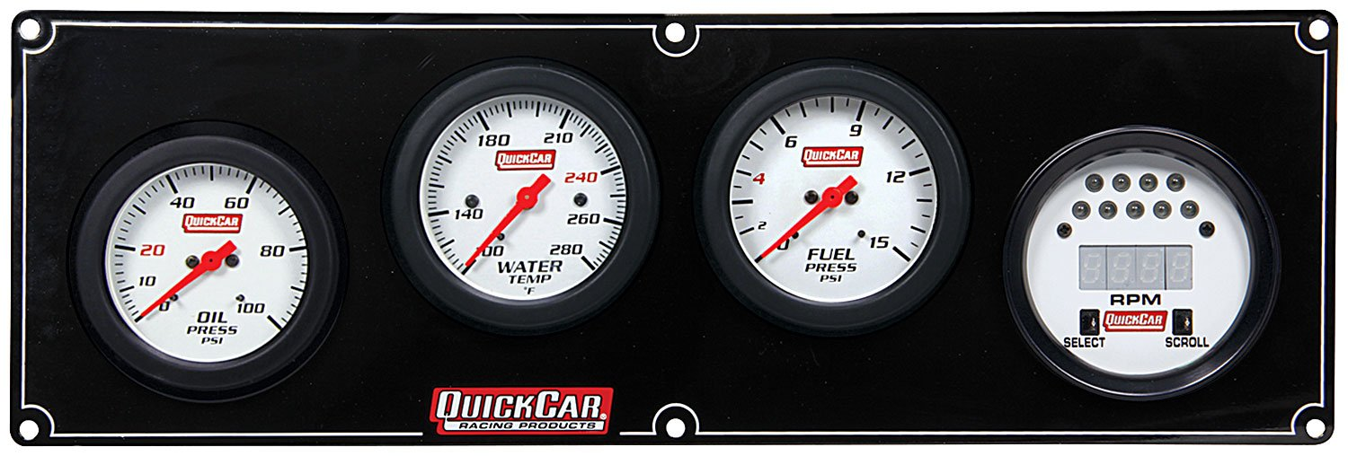QuickCar Racing Products 61-7042 Extreme 3-1 Gauge Panel by QuickCar Racing Products