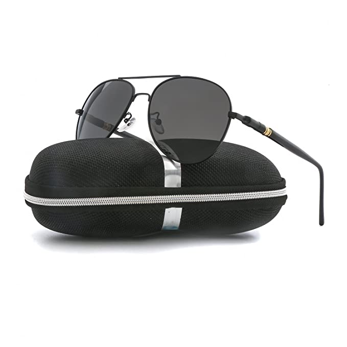 ce9377867b Image Unavailable. Image not available for. Color  Aviator Sunglasses for Men  Women Polarized VOPOLAR Metal Frame UV400 Protection