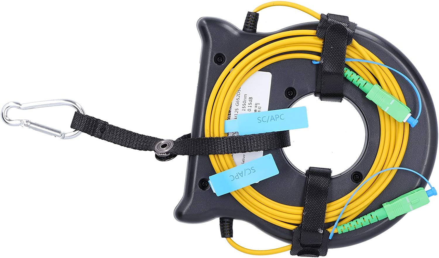 OTDR Extension Cord,1640.4ft OTDR Launches Cable Box SC//for APC-SC//for APC Optical Fiber Test Waterproof Dustproof with Stable Performance