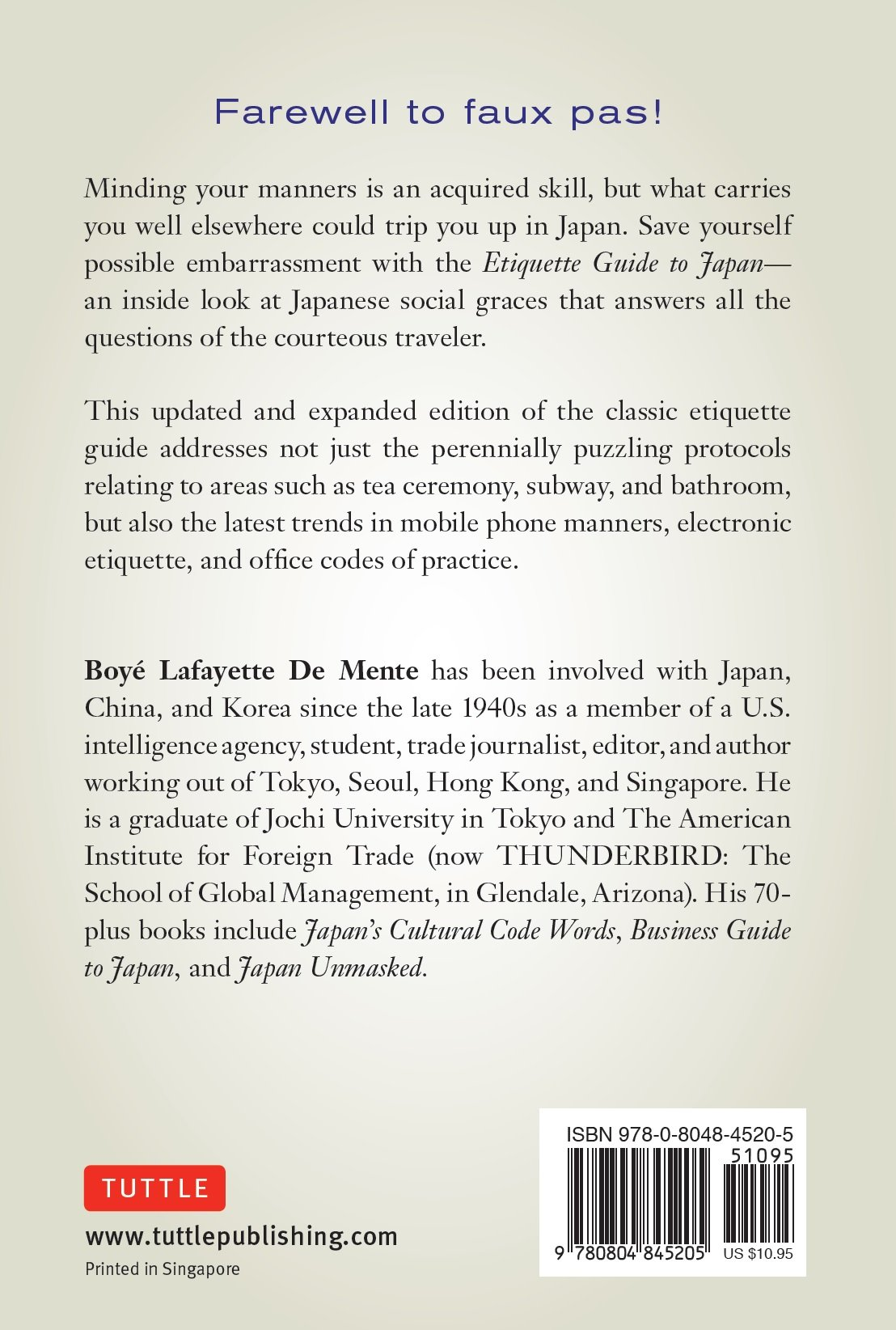 Etiquette guide to korea know the rules that make the difference etiquette guide to korea know the rules that make the difference boye lafayette de mente david lukens 9780804845205 amazon books fandeluxe Image collections