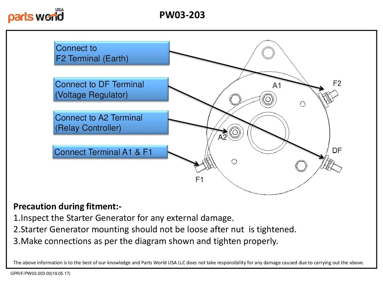 15421 Starter Generator EZ-GO Golf Cart 1980-1993 Club Car 1996-2006 1012316 103678502 101833701CC 16511G1 30083-69A 30083-69B 30083-69C 30083-69D 30083-69E GSB107-01A GSB107-04A GSB107-04C 1018337-01 by parts world USA