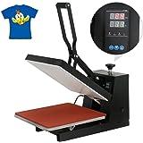 "SuperDealUsa 15"" X 15"" Digital Heat Press Machine Clamshell Sublimation T-Shirt Transfer Machine, Black(15"" X 15"")"