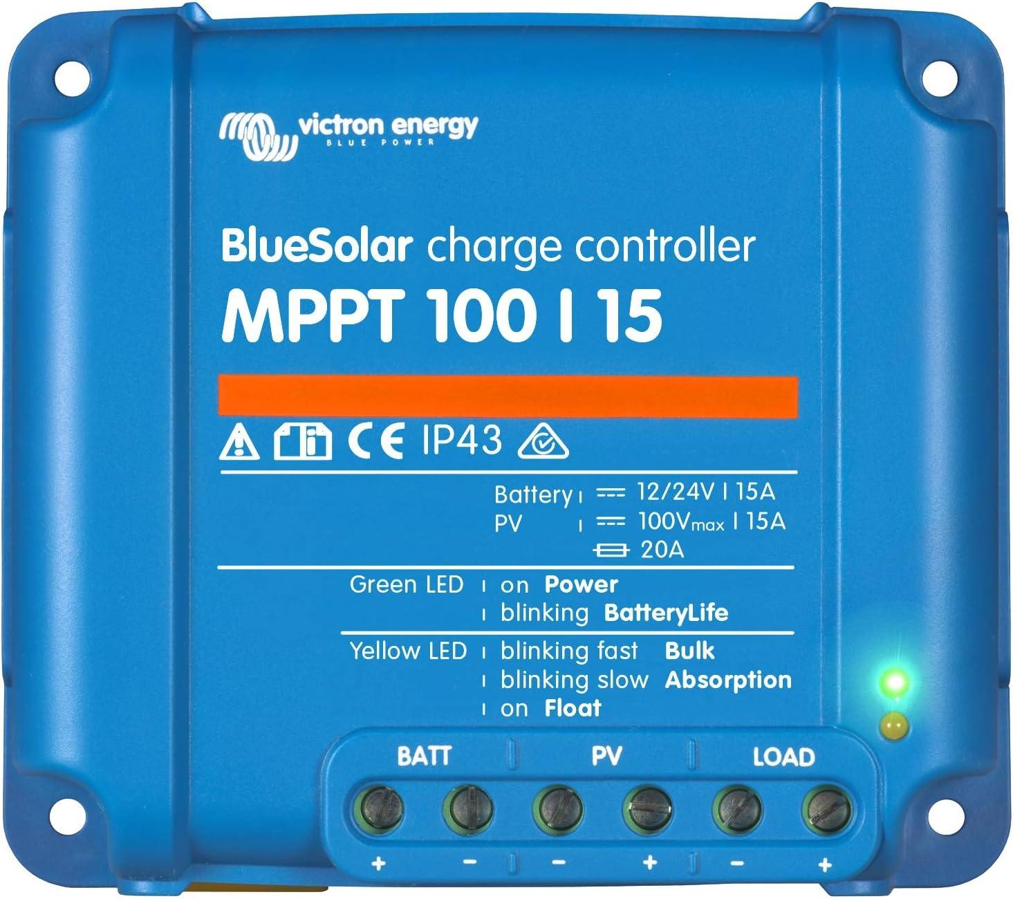 Victron Energy MPPT regulador de Carga BlueSolar 75/10, 75/15 y 100/15