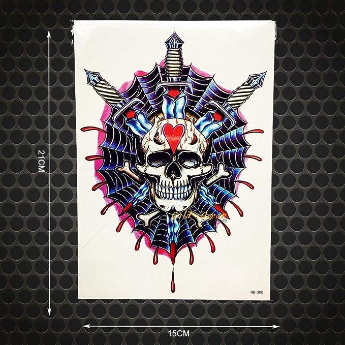 tzxdbh 2Pcs 1Pc Espadas de Sangre Tatuaje Temporal Hombres de la ...