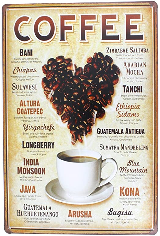 High Life Mocha Coffee Vintage Ad Metal Sign; Decor for Kitchen and Dinning Room