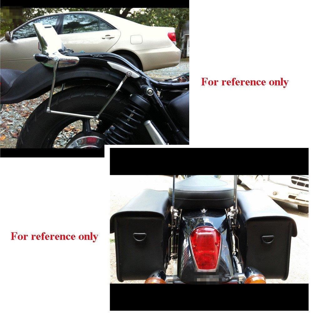 Bweele Supporto per Borse Laterali Cromato per Harley Uso Generale//Moto Borse Laterali per Supporto in Acciaio Cromato Harley Guard