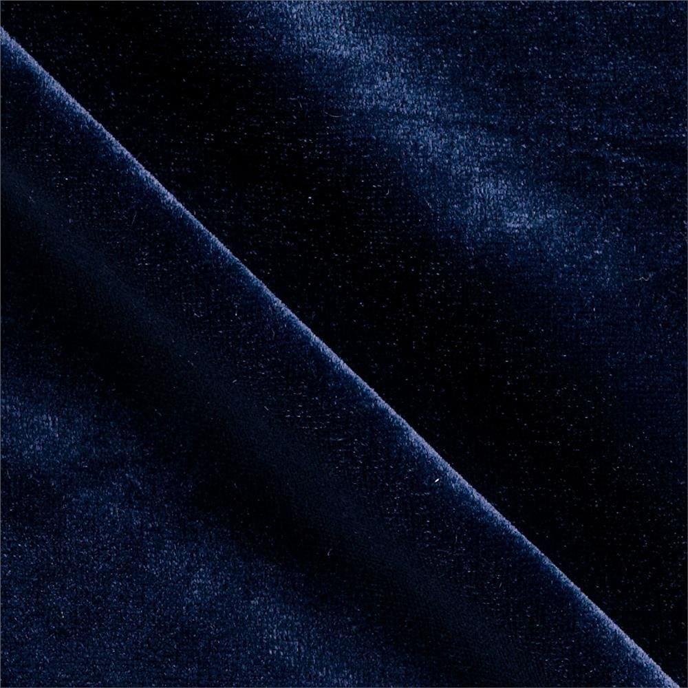 Stretch Velvet Fabric By the Yard - Midnight Blue Velvet Fabric FWD