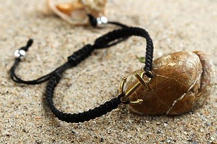 cb56ebacddfe Pulsera artesanal negra de hilos de nylon accesorio para mujer regalo  original  Amazon.es  Hogar