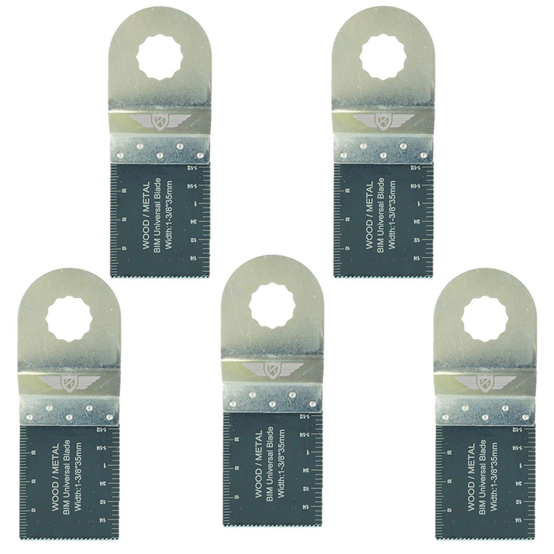 TopsTools RV35B_5 Lot de 5 lames bimé talliques, 35 mm, pour Draper RV35B 23038, MT250 31328, Wickes 235510, Renovator 35mm