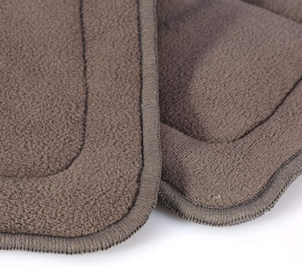 Broco Bamboo Inserts Microfiber Doublures 2Tailles lavable 5 couches Doublure en tissu de charbon de bambou Super Insert absorbant couche-culotte adulte M