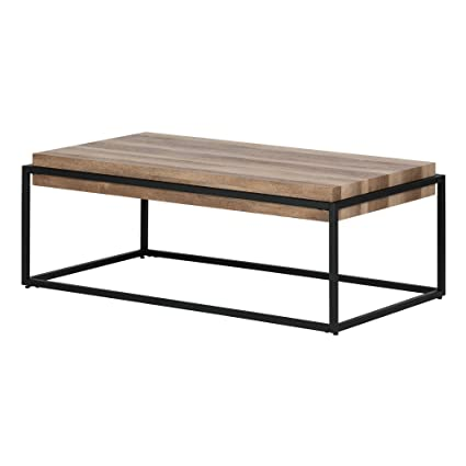 South Shore 12065 Mezzy, Barn Oak Industrial Coffee Table
