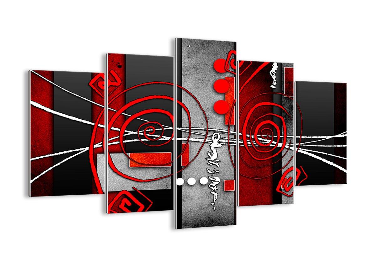 Quadro su vetro - cinque 5 tele - larghezza: 125cm, altezza: 70cm - numero dell'immagine 0599 - pronto da appendere - elementi multipli - Arte digitale - Moderno - Quadro in vetro - GEA125x70-0599 ARTTOR