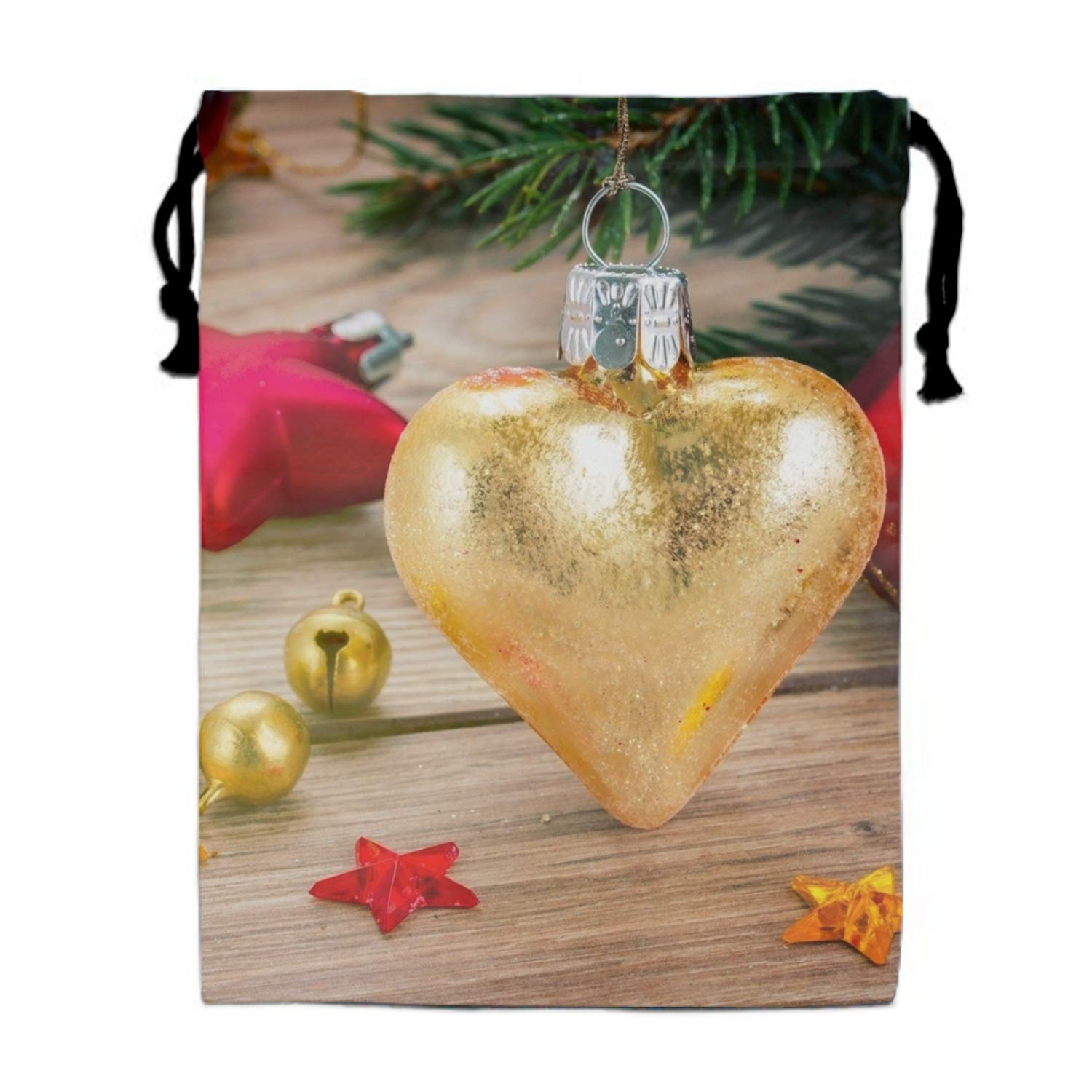 Christmas Merry Tree Travel Drawstring Bag Shoe Laundry Underwear Makeup Storage Pouch 15.75 x 11.8 inch
