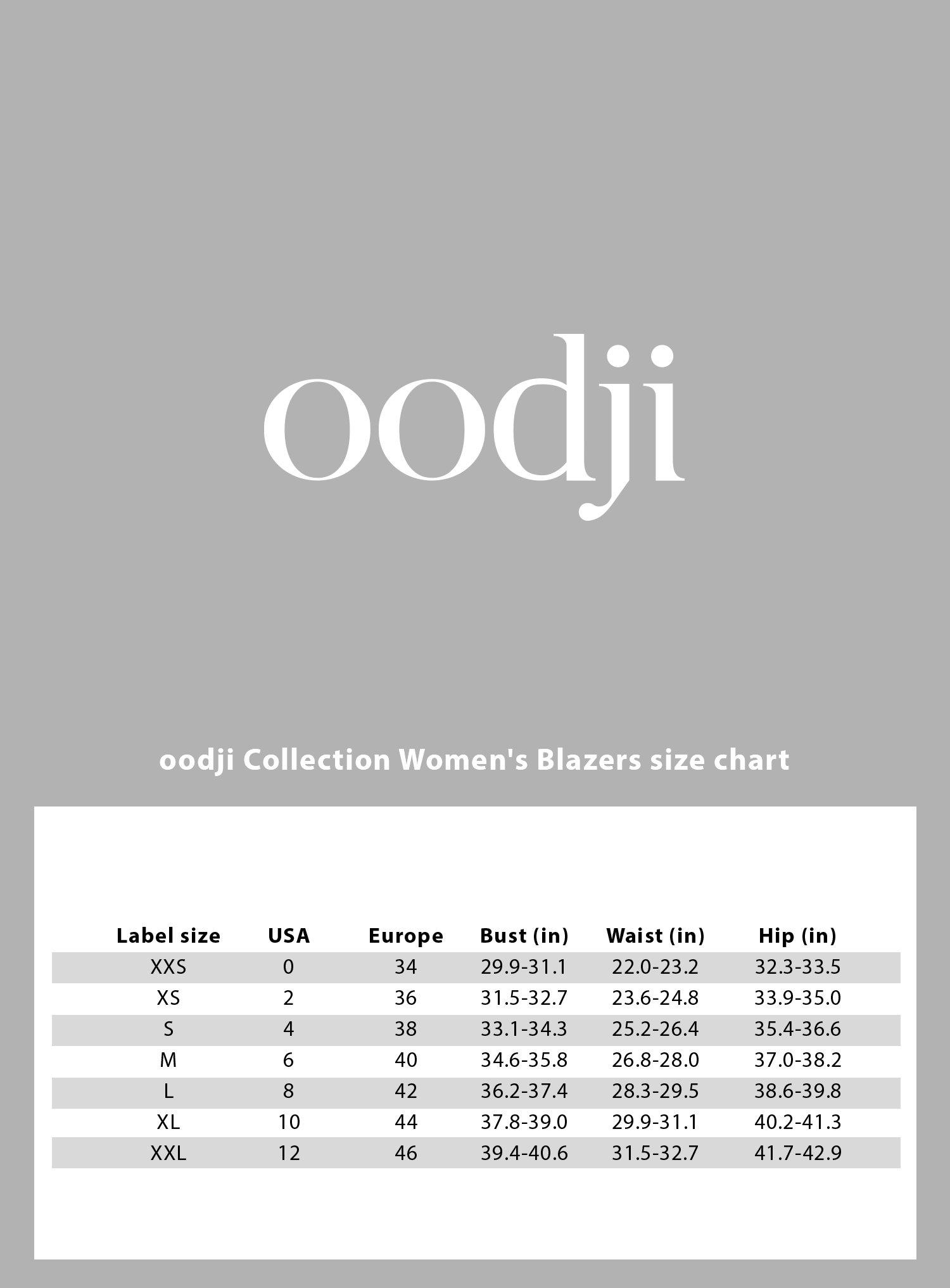 oodji Collection Women's Basic Slim-Fit Blazer, Blue, 10