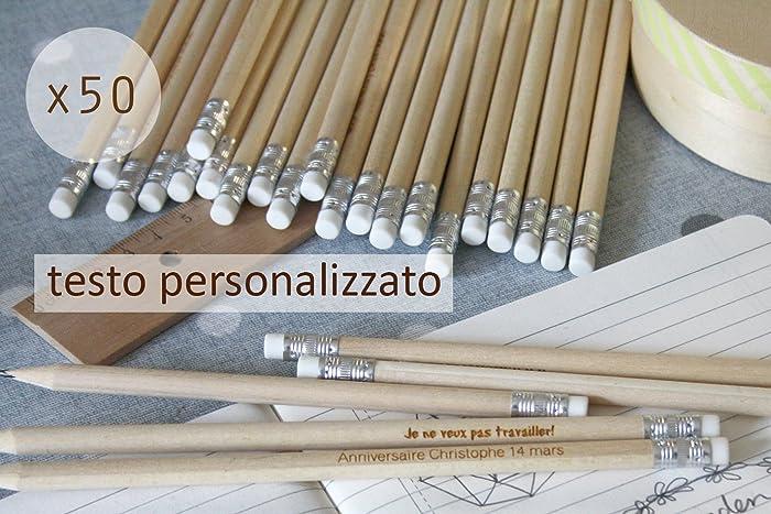 Matita con testo personalizzato gruppo x50 matite regalo di nozze