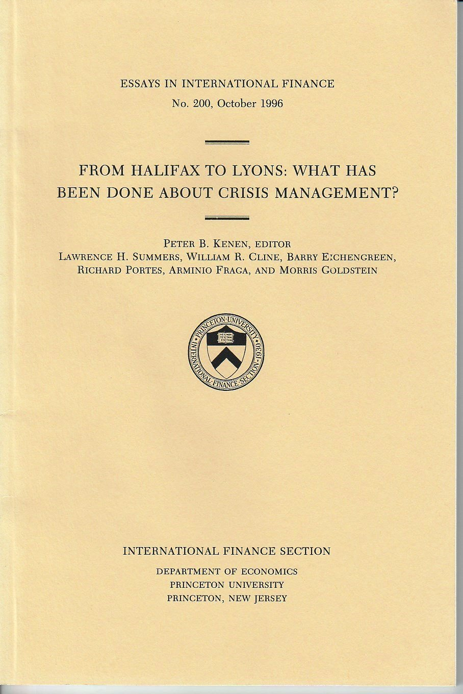 From Halifax To Lyons What Has Been Done About Crisis Management