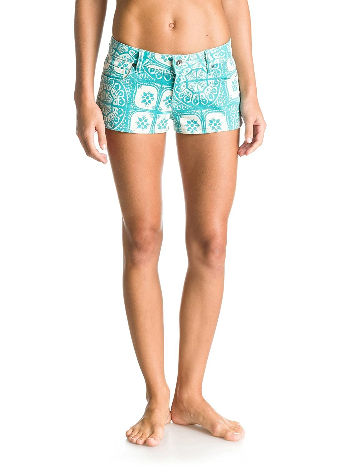 Roxy Womens Roxy Forever Print - Denim Shorts - Women - 29 - Green Baltic Blue Tides Of Way Blk6 29 ERJDS03047