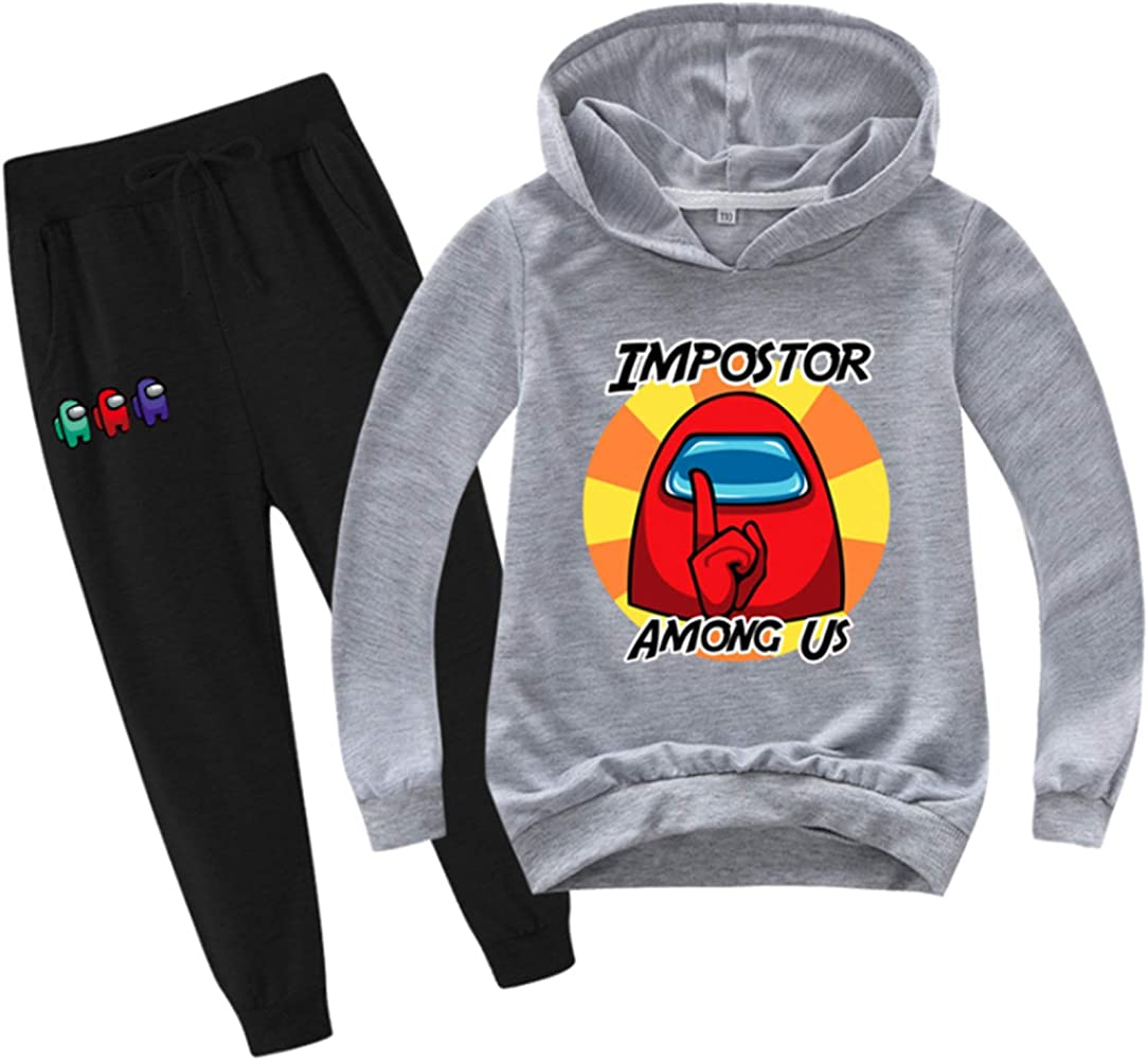 Youth Game graphic Pullover Hoodie and Sweatpants Suit for Boys Girls 2 Piece Outfit Fashion Sweatshirt Set