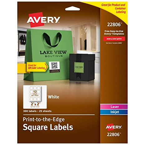 photograph regarding Jar of Nothing Printable Label Free named Avery Sq. Labels for Laser Inkjet Printers, Print-toward-the-Gain, 2\