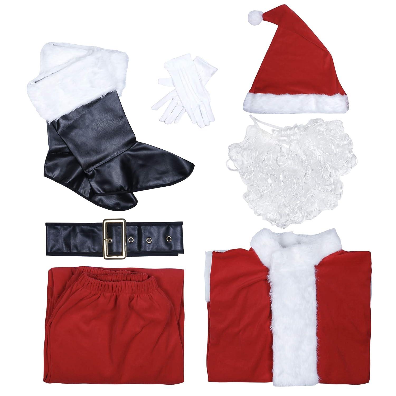 EraSpooky Hombre Traje De Santa Papá Noel Deluxe Disfraz Adulto ...