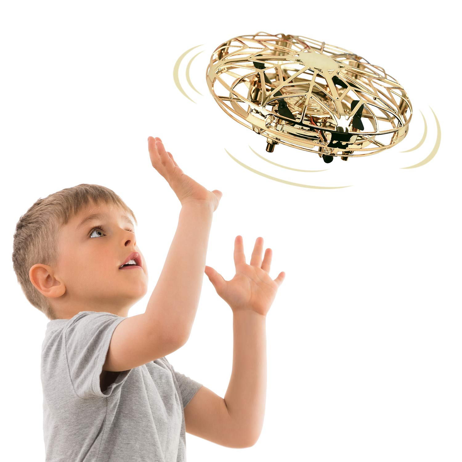Tesoky New Toys for 3-12 Year Old Boys, Hand Operated Drone for Kids Cool Toys for 3-12 Year Old Boys Girls Fun Toys for Kids 3-12 for Teen Boys Girls Gifts for 3-13 Year Old Girls FT03 by Tesoky