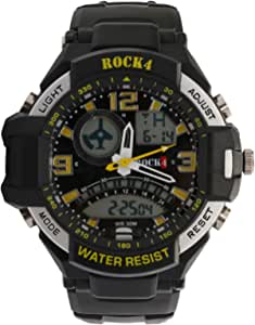 Rock4 Casual Watch for Men - Rubber, Black