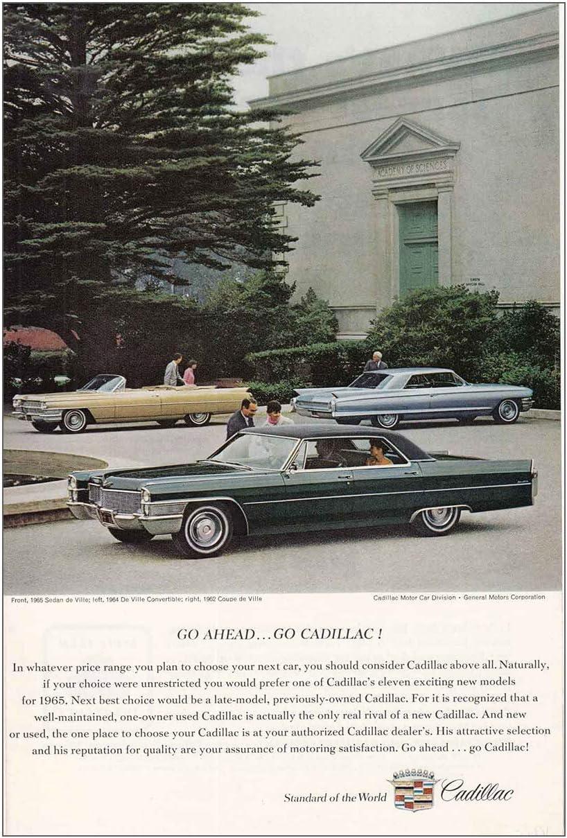 Amazon Com Relicpaper 1965 Cadillac Deville Convertible Coupe Deville Cadillac Print Ad Posters Prints