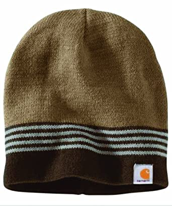 a344266563c Carhartt Malone Stripe Hat - Canyon Brown Mens Winter Beanie Ski Hat  CH101804908-One Size  Amazon.co.uk  Clothing