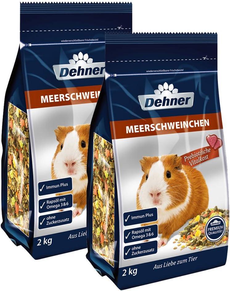 Dehner - Comida para cobayas (2 x 2 kg, 4 kg)