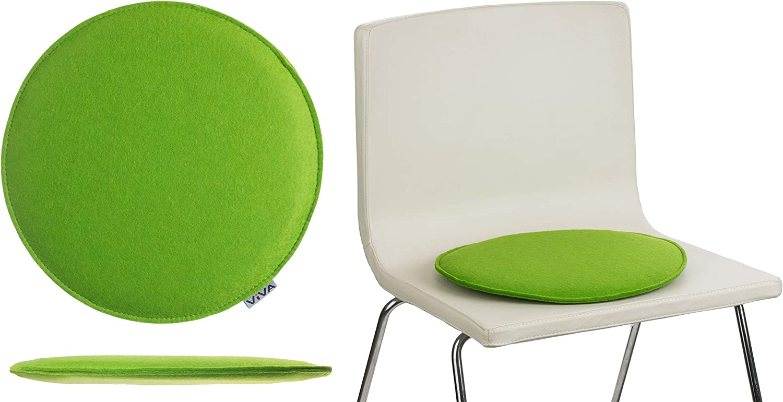 Brandsseller Seat Cushion Felt Round Diameter Chair Cushion Seat Pad Covers Green 100/% polyester 2er-Vorteilspack
