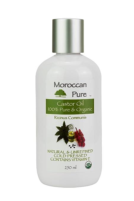 Aceite de ricino orgánico 100% puro y orgánico prensado en frío, reduce el picor