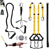 Clothink Bodyweight Resistance Straps Training Kit, with Resistance Band for Full Body Strength, Easy Setup Home Gym Outdoor Fitness Training Set