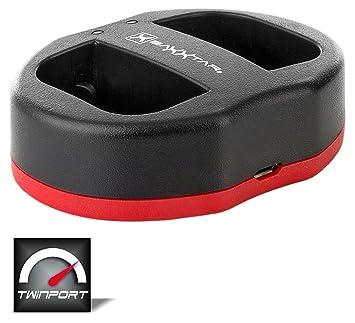 Baxxtar Twin Port 1822 - Compatible con la batería Sony NP-FW50 - USB Dual Cargador