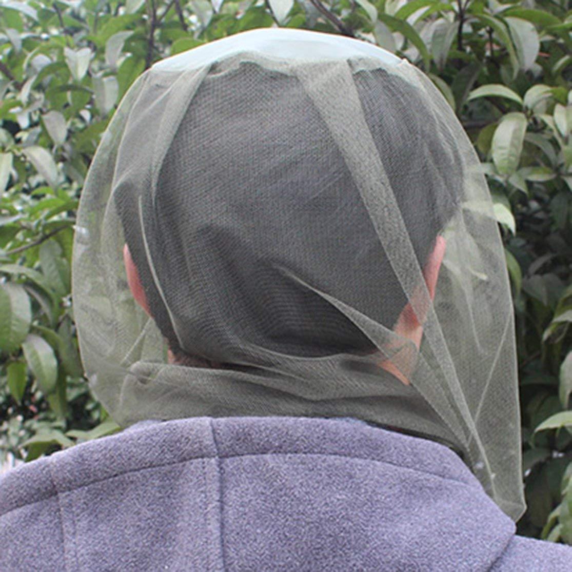 LouiseEvel215 Anti Mosquito Head Face Net Malla Cubierta Mantener a los Insectos Fuera de Insecto Bee Fly Mask Cap Protector de Cara para la Pesca jardiner/ía Camping
