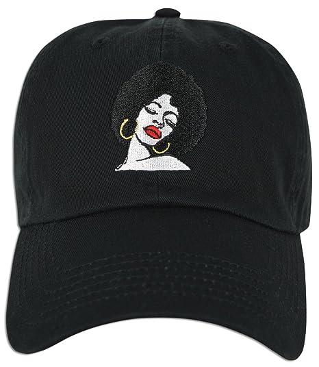 Amazon.com  JLGUSA Melanin Embroidered Dad Cap Hat Adjustable (Black ... bf87739a5bce
